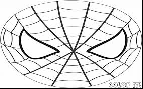 fabulous spider man mask template printable with carnival coloring