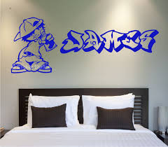 graffiti artist personalised wall art sticker sticker station