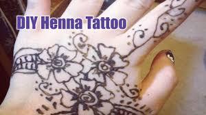 diy henna tattoo easy youtube
