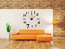 wall clock mirror frameless larger home coffee room art fashion and creative diy wall clock will make your living room more personalized unique ensure every components this its