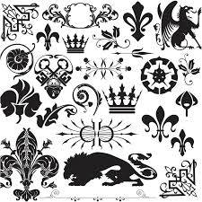 royal ornament elements vector vector graphics