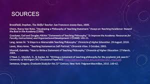 how to write philosophy paper statement of teaching philosophy workshop ppt download 13 sources brookfield