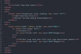 tutorial membuat web html sederhana cara membuat header web sederhana html ga punya kode