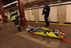 subway thanksgiving point nyc emergency responders go through active shooter drill