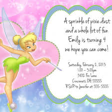 tinkerbell custom designed birthday party invitation pixie dust