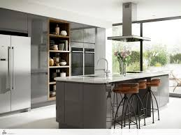 island units for kitchens a practically designed kitchen with large curved grey gloss island