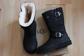 womens ugg boots on ebay ugg australia kensington black leather sheepskin 5678 boots size 7