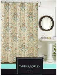 Brown Floral Shower Curtain Orange And Brown Shower Curtain Jessica Simpson Provincial Shower
