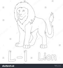 l lion coloring page stock illustration 185935880 shutterstock