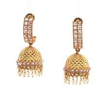 chandelier earring indian ethnic gold plated bridal jhumka chandelier