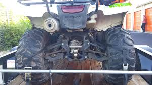 f s 2 honda rancher 420 4x4 utility trailer and ramps 9 5k obo