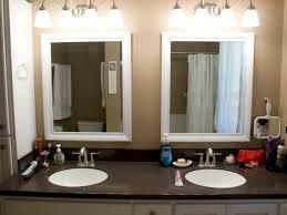 Frame Bathroom Mirror Kit Framing A Bathroom Mirror