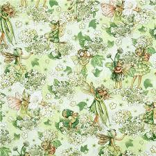 michael miller flower fabric morning fairy garden fairy flower