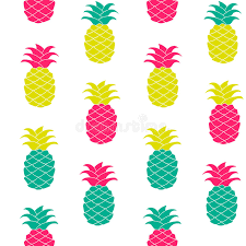 seamless pineapple pattern vector illustration hand drawn