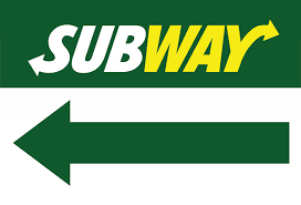 subway restaurant arrow sign design
