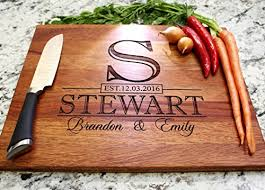 monogrammed wedding gift classic monogram wedding design personalized cutting board