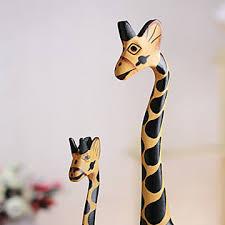 aliexpress buy 3pc set vintage nordic log craft gift giraffe