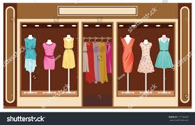 boutique womens clothing shop stock vector 117756220 shutterstock