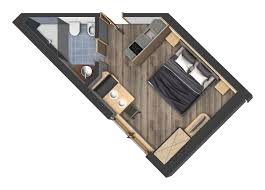one room apartments studios for 2 persons