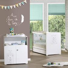 chambre bebe d occasion chambre bebe duo teddy lit 60x120cm commode baby sur allobebe