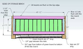 Plans For Making A Wooden Bench by Ana White Outdoor Storage Bench Diy Projects