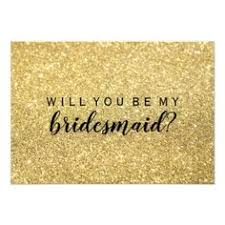 bridesmaids invitation cards will you be my bridesmaid gold glam card wedding invitations