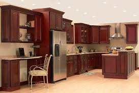 Luxury Discount All Wood Cherry Kitchen Cabinets Cherry Kitchen - Kitchen with cherry cabinets