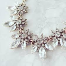statement necklace with flower images Diamante flower statement necklace victoria emerson uk jpg