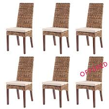 Rattan Kitchen Chairs Set Of 6 Corte Chairs Rattan Rattan Chair Sets Rotin Design
