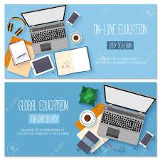 design online education flat design for online education training courses e learning