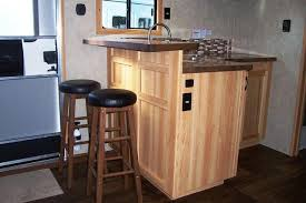 Trailer Kitchen Cabinets Bison Brown Maple Kitchen Cabinets Brown Shaker Cabinets Copper