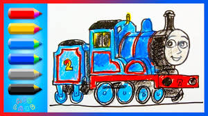 how to draw edward blue engine thomas and friends drawing