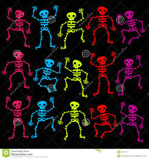 halloween dancing skeleton colorful dancing skeletons stock photography image 25823172