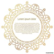 gold border frame mandala ornament can be used for
