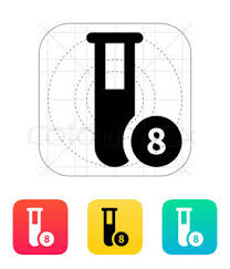 test tube sketch icon for web and mobile hand drawn vector dark