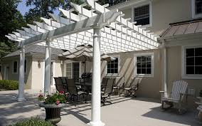 vinyl pergola u0026 lattice screen porches deck craft plus