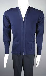 mens cardigan sweater mens cardigan sweater 1940s zip front navy blue wool size s to m 40