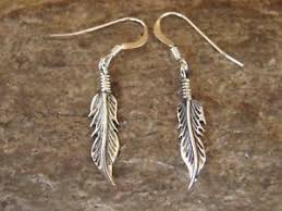 feather earrings s small american indian jewelry sted sterling silver