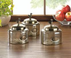 Glass Kitchen Canister Hammered Glass Kitchen Jar Trio Wholesale At Koehler Home Decor