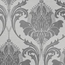 crown zahra charcoal wallpaper m1159