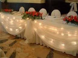 how to use tulle to decorate a table how to head table with tulle wedding headtable lights sweetheart
