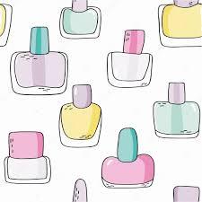 pattern with nail polish bottles u2014 stock vector iliveinoctober