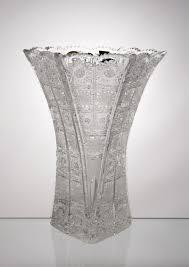 Colored Crystal Vases Cut Crystal Vases From Bohemia Crystal Treasury Com
