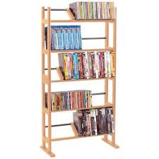 buy dvd storage cabinet dvd storage cabinet media cd rack unit organizer wood maple shelves