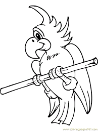 parrot coloring free parrots coloring pages