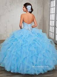 baby blue quinceanera dresses strapless ruffled quinceanera dress by s bridal princess