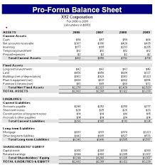 Opening Day Balance Sheet Template Proforma Balance Sheet Template Formal Word Templates