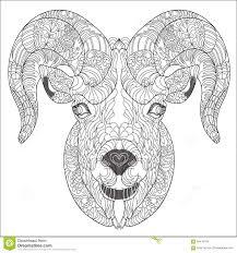 ornamental of goat or ram stock vector image 59470184