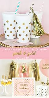 pink and gold party supplies polka dot party cups kids favor cups pink and gold party
