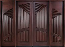 dark brown wooden double entry doors with no handle of entrancing